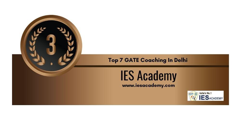 Rank 3 GATE Coaching In Delhi