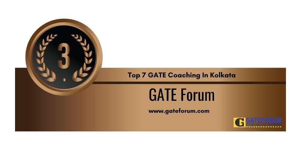 Rank 3 GATE Coaching In Kolkata