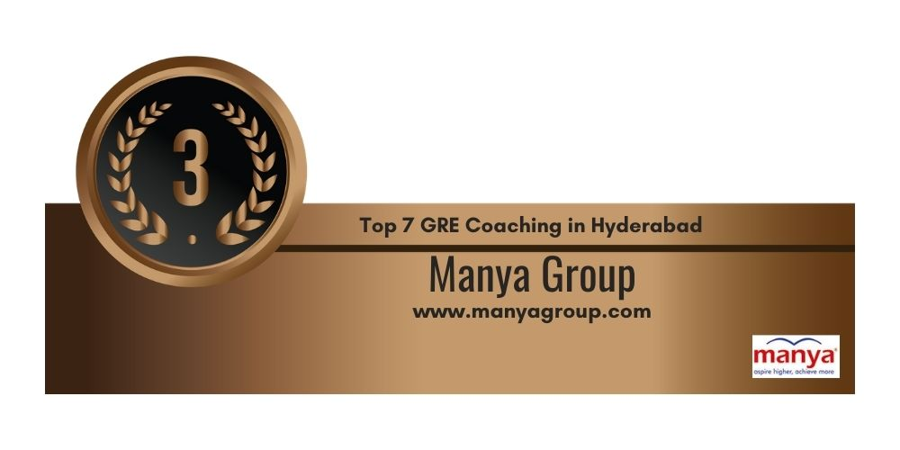 Rank 3 in 7 GRE Coaching centers in Hyderabad