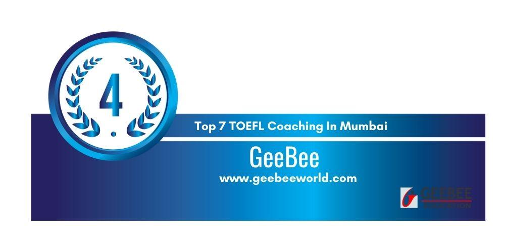 Rank 4 TOEFL Coaching In Mumbai