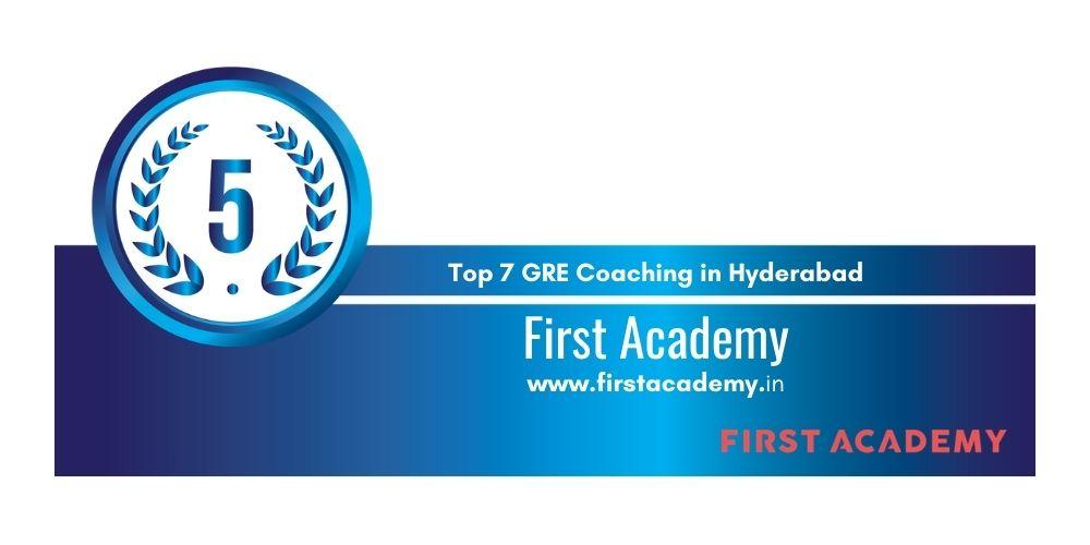 Rank 5 in 7 GRE Coaching in Hyderabad