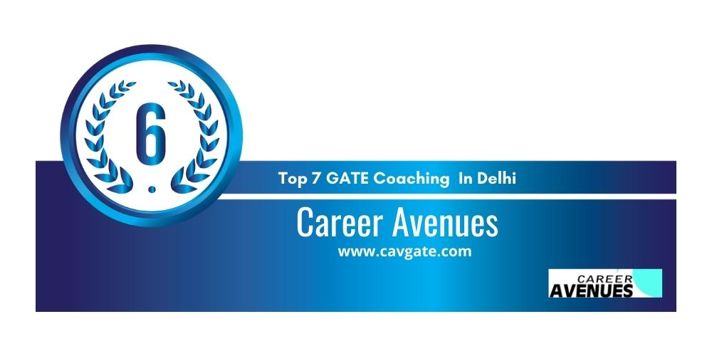 Rank 6 GATE Coaching In Delhi