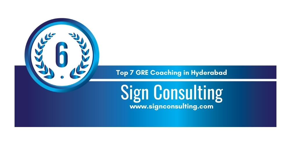 Rank 6 in 7 GRE Coaching centers in Hyderabad