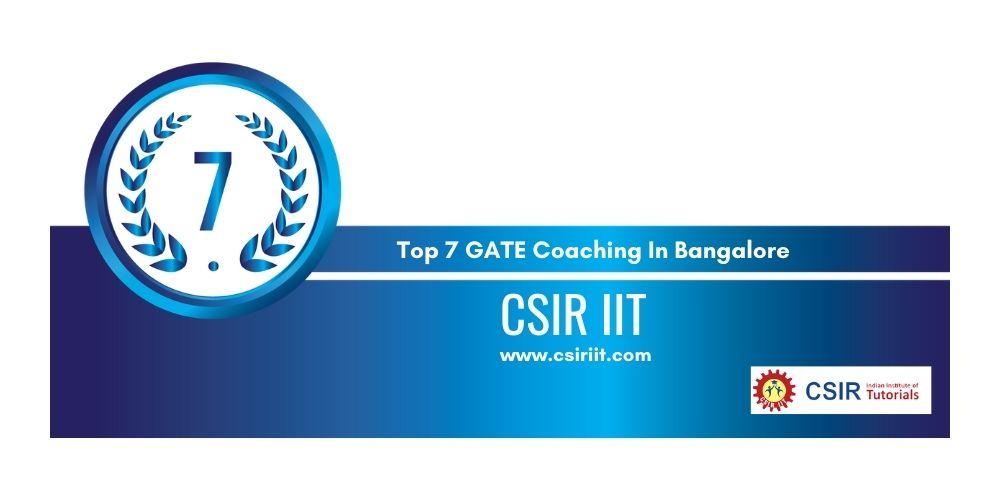 Rank 7 GATE Coaching In Bangalore