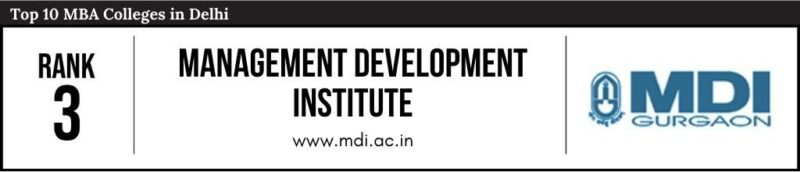 Rank 3 in the List of Top 10 MBA Colleges in Delhi