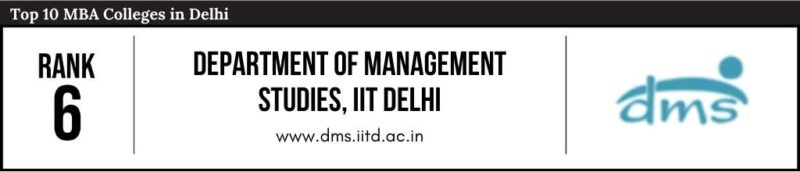 Rank 6 in the List of Top 10 MBA Colleges in Delhi