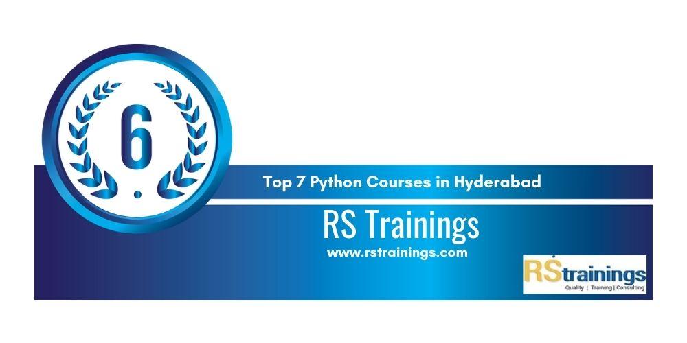 Python training in Hyderabad 6