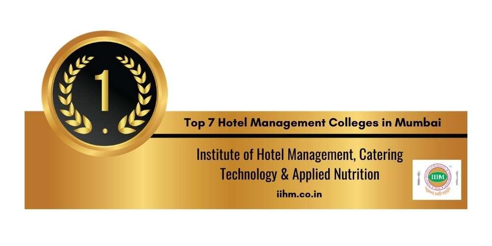 Rank 1 in Hotel Management Colleges in Mumbai