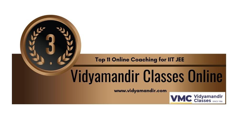 Rank 3 Online coaching for IIT JEE