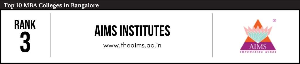 Rank 3 in the List of Top 10 MBA Colleges in Bangalore