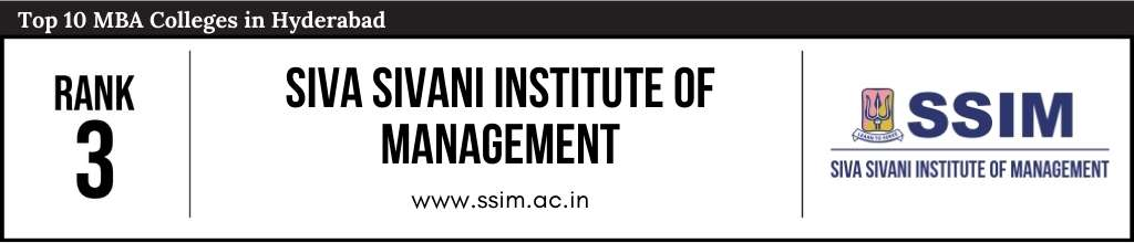Rank 3 in the List of Top 10 MBA Colleges in Hyderabad