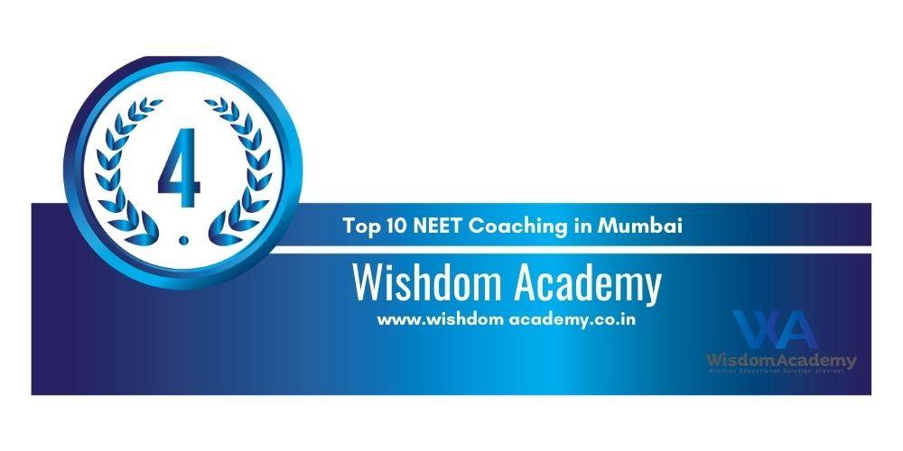 Rank 4 NEET Coaching in Mumbai