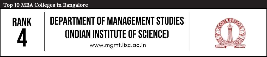 Rank 4 in the List of Top 10 MBA Colleges in Bangalore