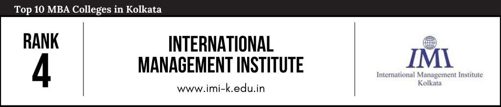 Rank 4 in the List of Top MBA Colleges in Kolkata