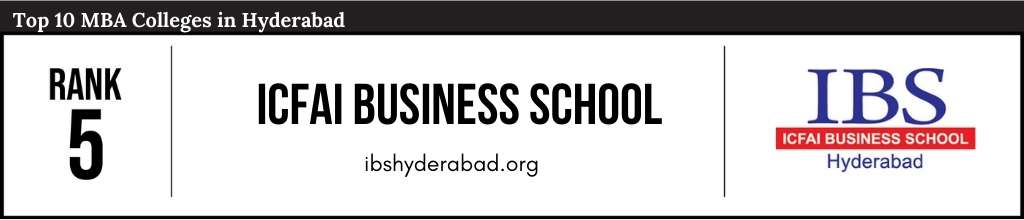 Rank 5 in the List of Top 10 MBA Colleges in Hyderabad