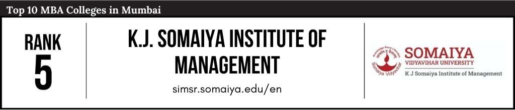 Rank 5 in the List of Top 10 MBA Colleges in Mumbai