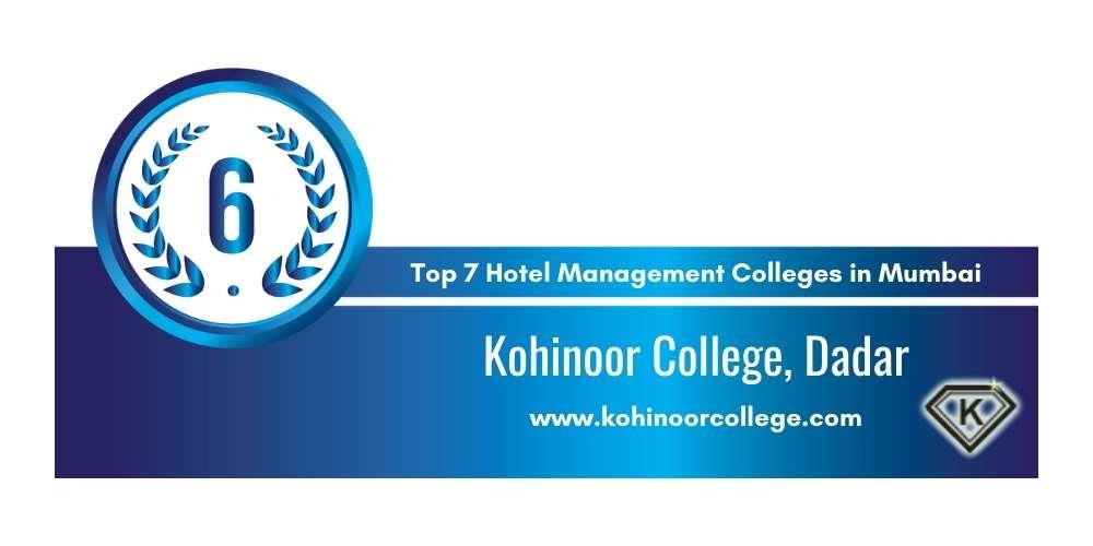 Rank 6 in Hotel Management Colleges in Mumbai