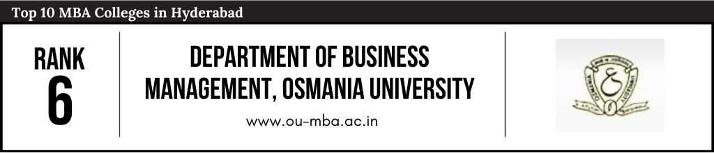 Rank 6 in the List of Top 10 MBA Colleges in Hyderabad