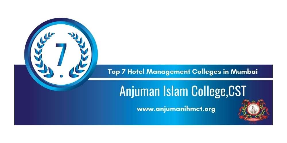 Rank 7 in Hotel Management Colleges in Mumbai