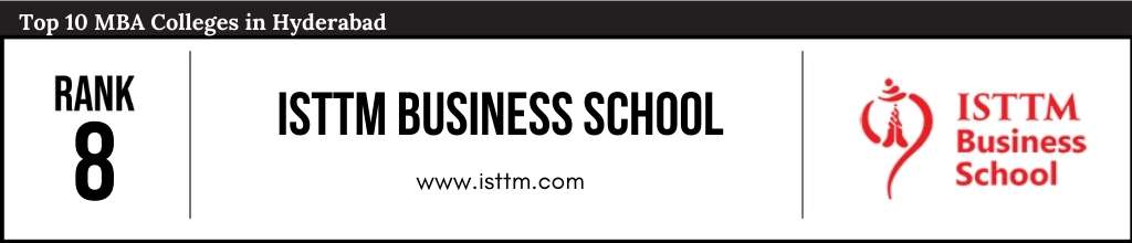 Rank 8 in the List of Top 10 MBA Colleges in Hyderabad