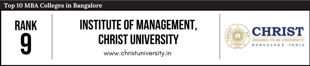 Rank 9 in the List of Top 10 MBA Colleges in Bangalore