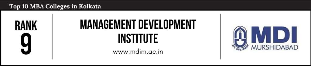 Rank 9 in the List of Top MBA Colleges in Kolkata