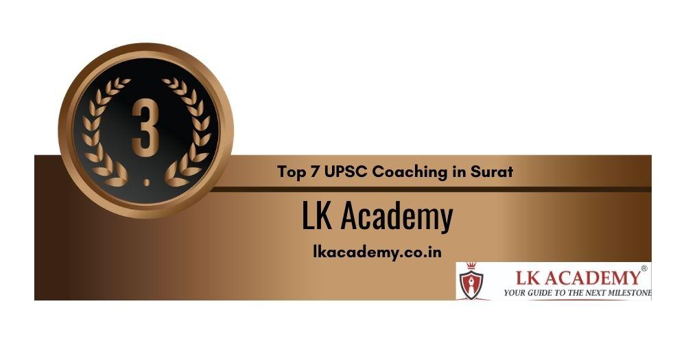 Top 7 IAS Academy in Surat Rank 3