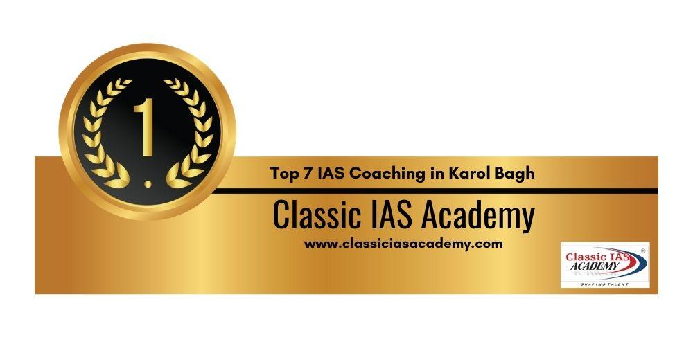 Civil Services coaching in Karol Bagh Rank 1