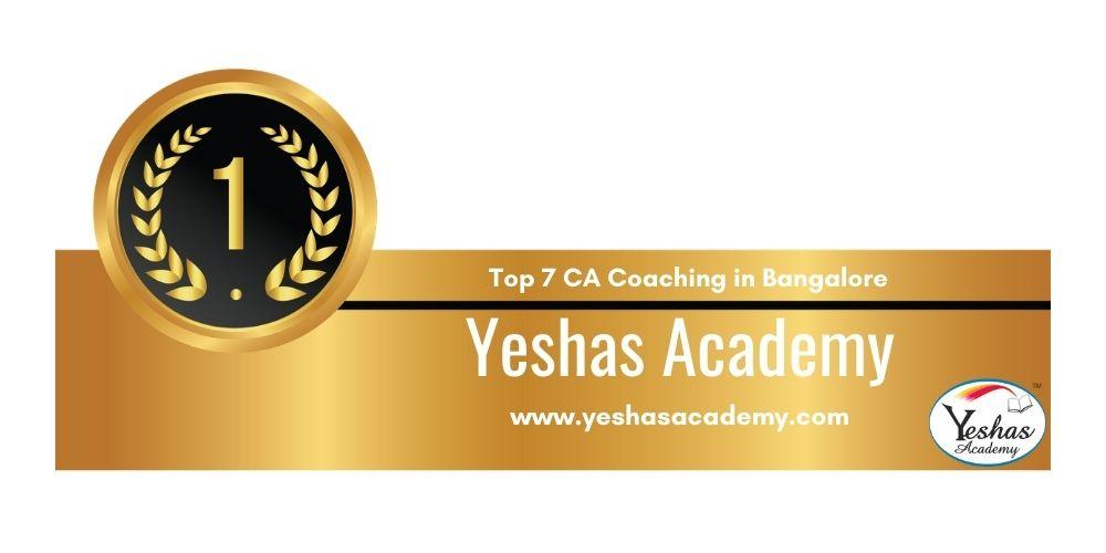 Rank 1 in Ca Coaching in Bangalore