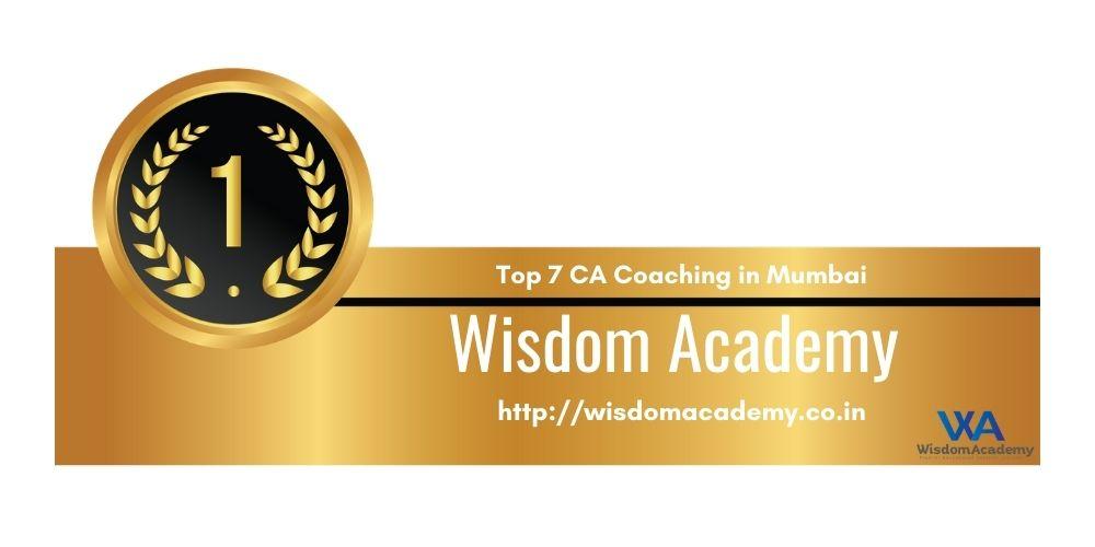 Rank 1 in Ca Coaching in mumbai