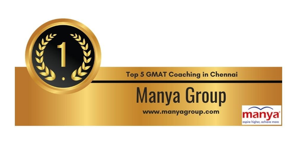Rank 1 in Top 5 GMAT Coaching in Chennai