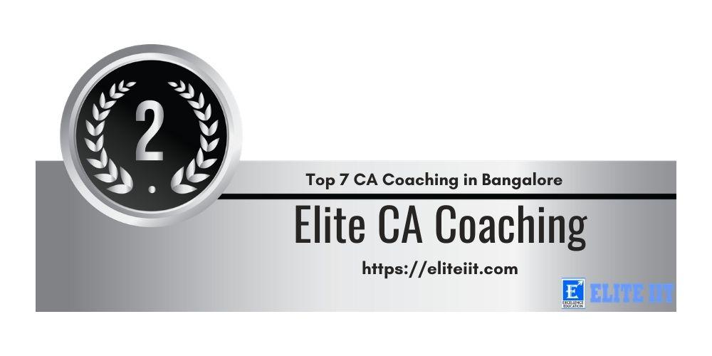 Rank 2 in Ca Coaching in Bangalore