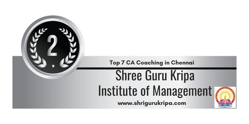 Rank 2 in Top 7 Ca Coaching in Chennai