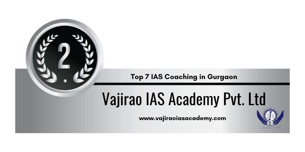 Rank 2 in IAS Coaching in Gurgaon