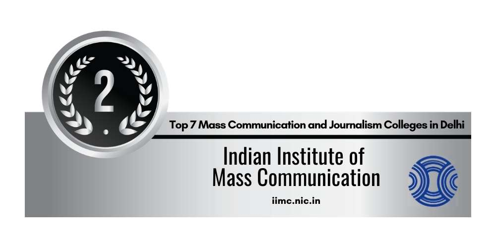 Rank 2 in Mass Communication and Journalism in Delhi