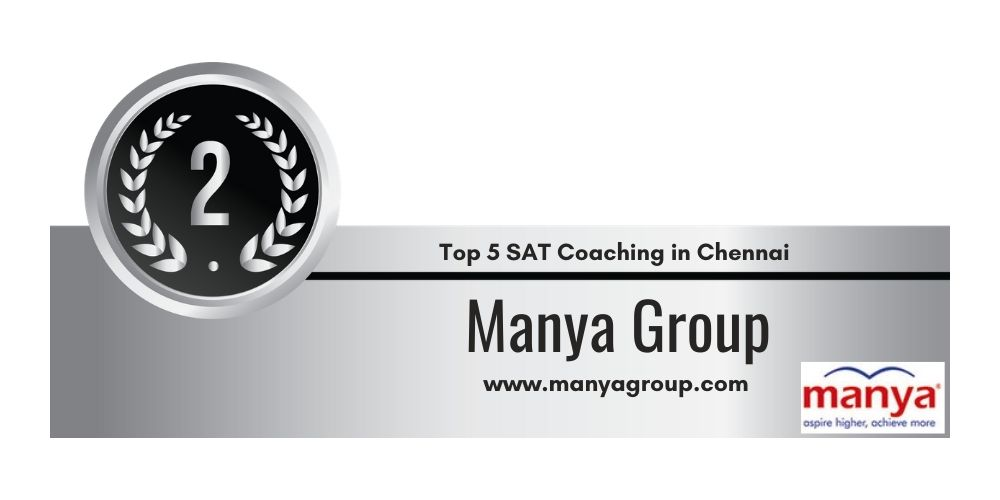Rank 2 in Top 5 SAT Coaching Centre in Chennai