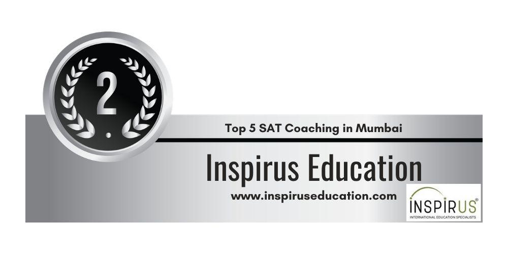 Rank 2 in 5 Best SAT Coaching in Mumbai