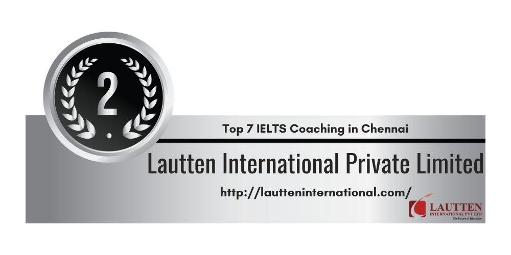 Rank 2 in Top 7 IELTS Coaching in Chennai