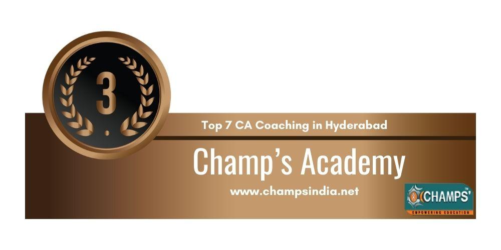 Rank 3 in Ca Coaching in Hyderabad