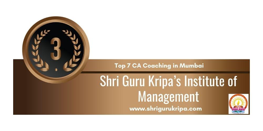Rank 3 in Ca Coaching in Mumbai