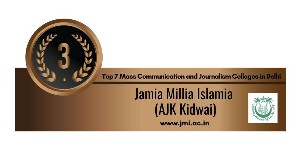 Rank 3 in Mass Communication and Journalism in Delhi