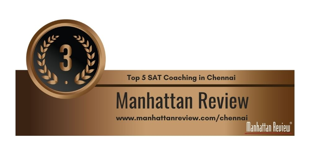 Rank 3 in Top 5 SAT Coaching Centre in Chennai