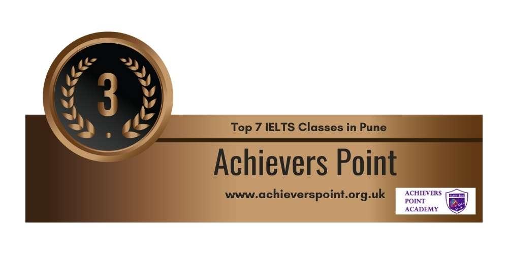 Rank 3 in Top 7 IELTS Classes in Pune.