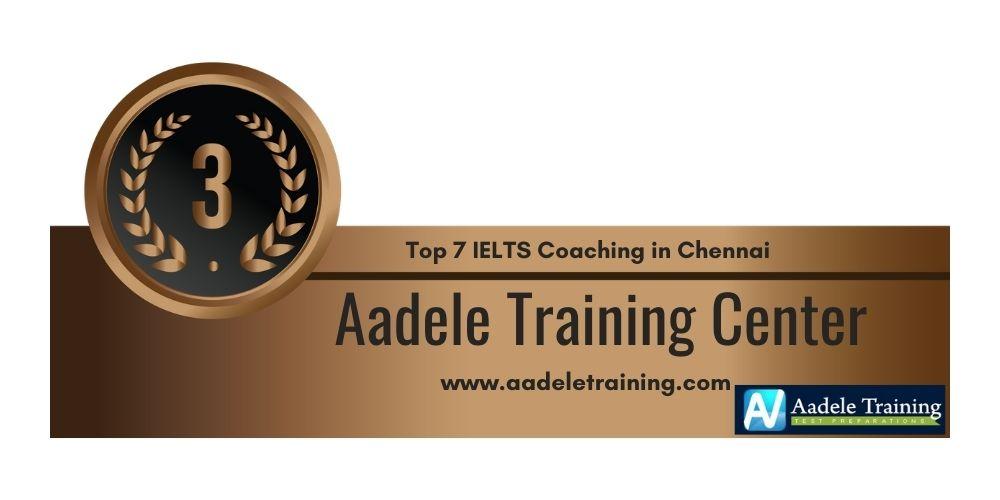 Rank 3 in Top 7 IELTS Coaching in Chennai