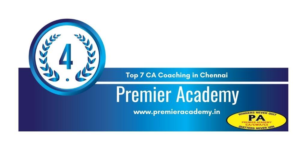 Rank 4 in Top 7 Ca institute in Chennai