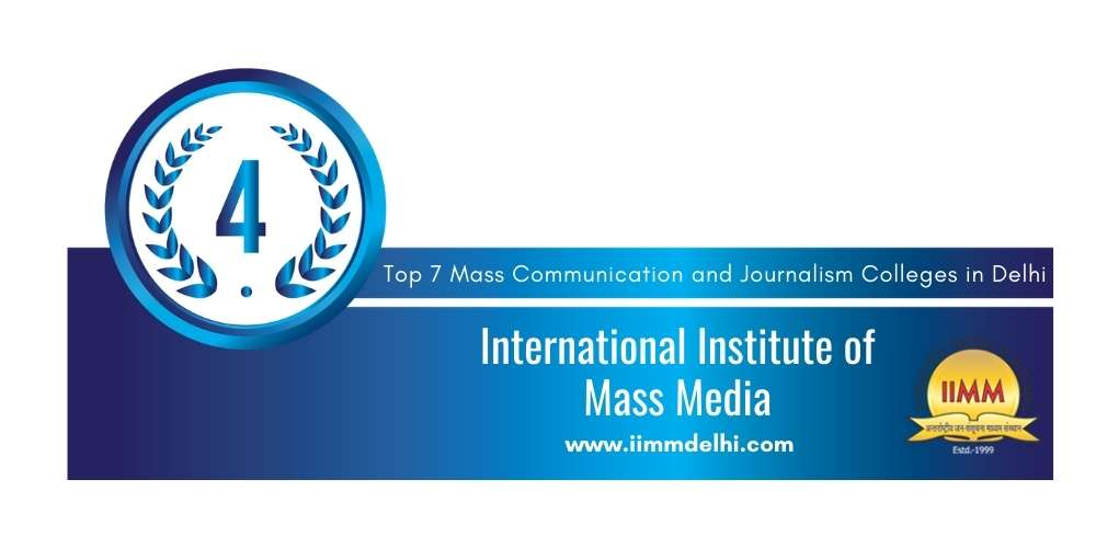Rank 4 in Mass Communication and Journalism in Delhi