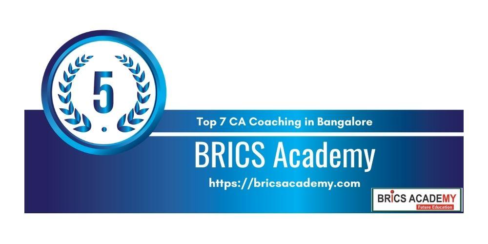 Rank 5 in Ca Coaching in Bangalore