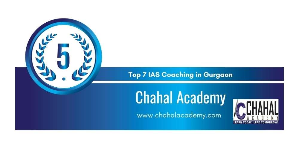 Rank 5 in IAS Coaching in Gurgaon