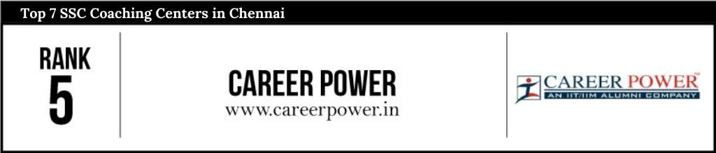 Rank 5 in SSC Coaching Centers in Chennai