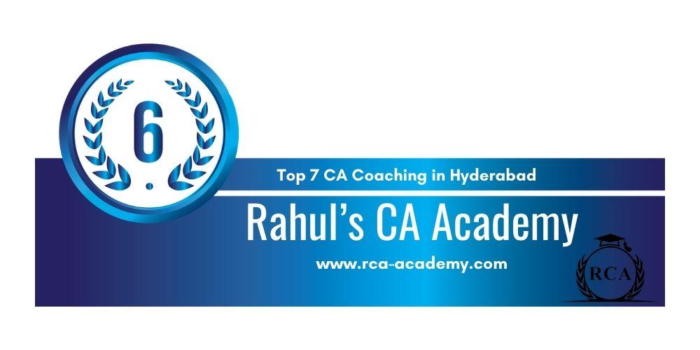 Rank 6 in Ca Coaching in Hyderabad